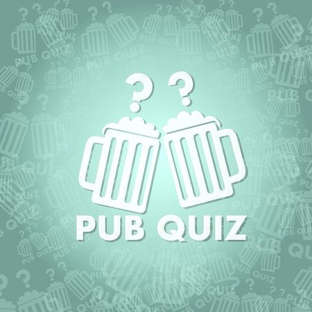 quiz test: trendy pub quiz symbol background with space for own text Stock Photo