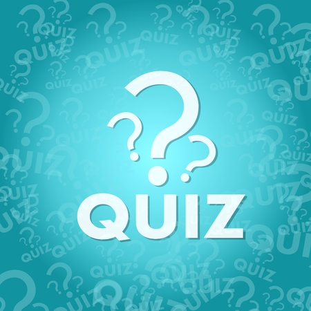 stylish quiz sign background with space for own text Stock Photo