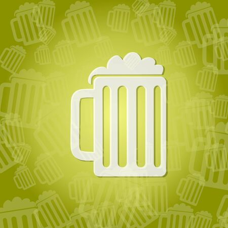 Stylish Beer Symbol Background With Space For Own Text Stock Photo
