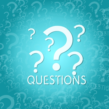 any: trendy question symbol background with space for own text