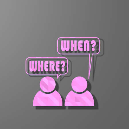 organise: pink symbol low poly of different appointment isolated on trendy grey background