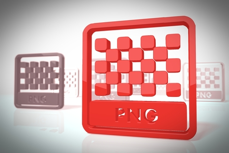 png: png file icon in a stylish 3d scene in retro style for trendy illustrations isolated on white background