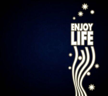 enjoy life: festa nobile godono modello vita in blu scuro con simboli e regali di Natale e stelle clamorose Archivio Fotografico
