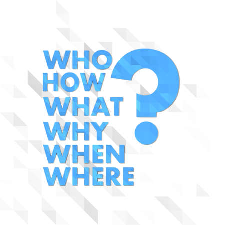 creative illustration low poly of questions isolated on trendy white triangle background