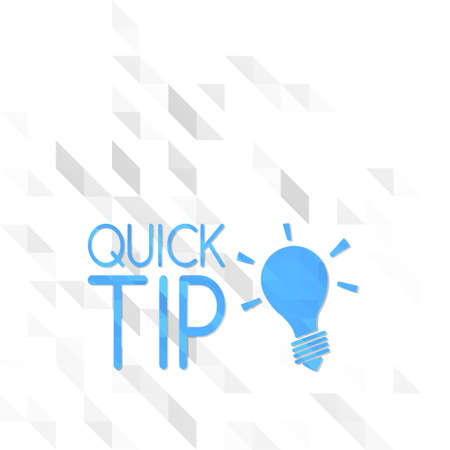 different symbol low poly of quick tip isolated on trendy white triangle background
