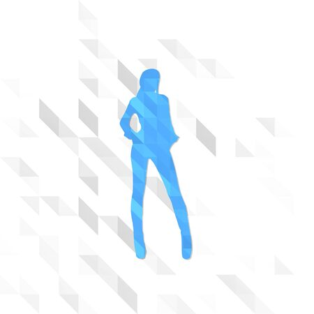 3d symbol low poly of sexy isolated on trendy white triangle background