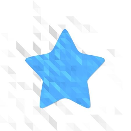 different symbol low poly of star isolated on trendy white triangle background Stock Photo