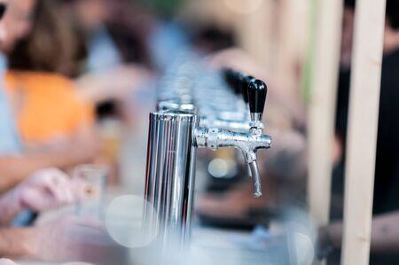beer festival: Beer dispenser. Draft Beer Festival