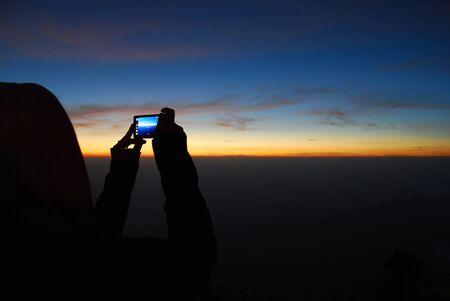 l natural: Sunrise at Phu Thap Berk, Phetchabun province, Thailand.
