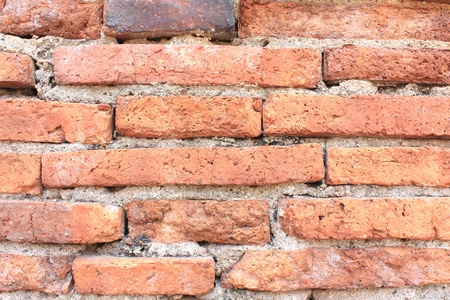 clear brick wall in a close up photo