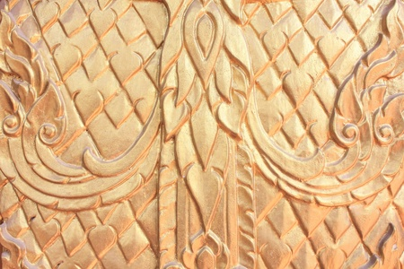 thai traditional door wood carvings in wat yai chaimongkol photo