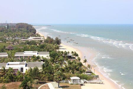 hin: top view some of hua hin beach, Thailand Stock Photo