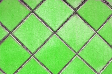 green mosaic tiles floor  photo
