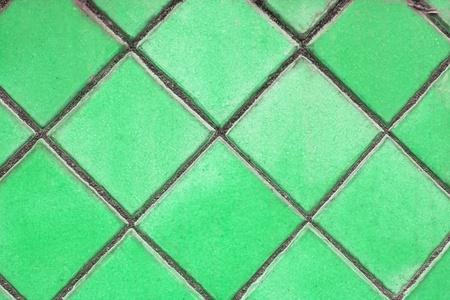green mosaic tiles floor photo