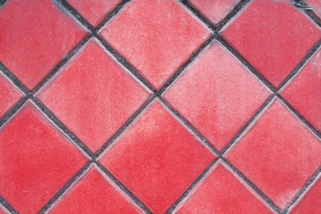 architectonic: red mosaic tiles floor Stock Photo