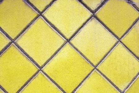 yellow mosaic tiles floor Stock Photo - 13104606