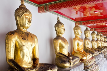 sequential: Buddha statue in Wat Pho Temple sequential, Bangkok, Thailand