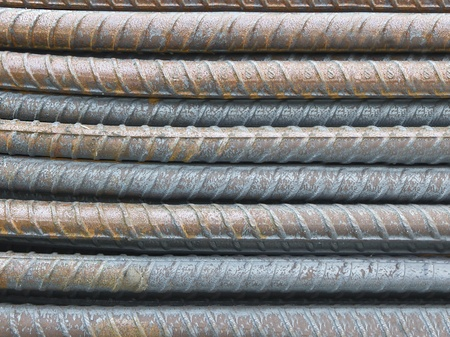 close-up steel bars background Stock Photo