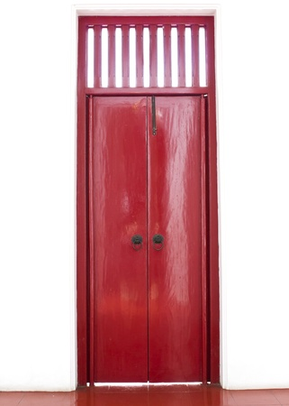 Red chinese door style photo