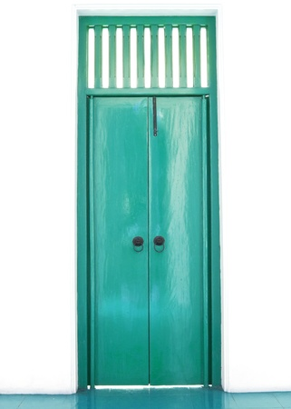 Green pastel chinese door style photo
