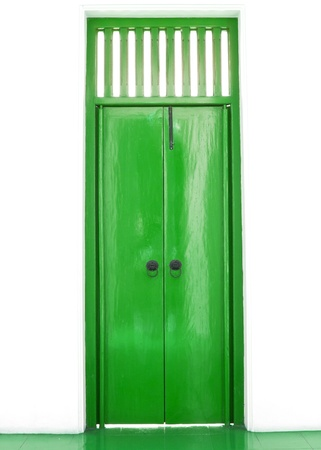 Green chinese door style photo