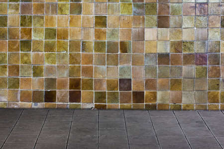 Multi Color Ceramic Wall And Ceramic Tiles Floor Stock Photo