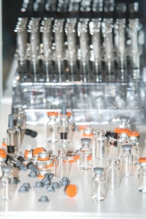 drugs glassware bottles