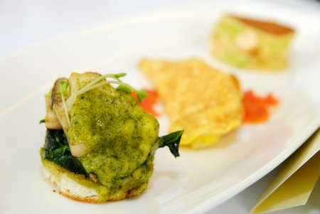 Bread with Spinach and Cheese photo