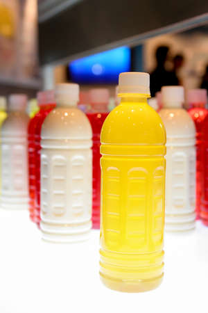 Colorful plastic bottles photo