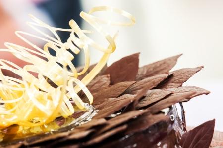 manjar: Pastel de chocolate