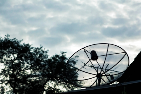 satellite dishes antenna on the roof Stock Photo - 15257572