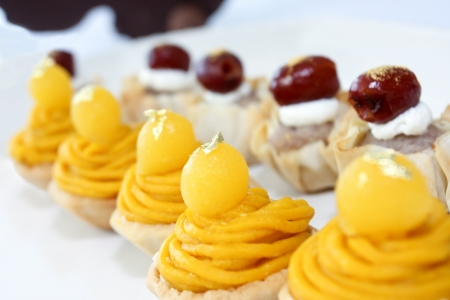 sweetmeat: Two Cupcakes of Thai sweetmeat Stock Photo