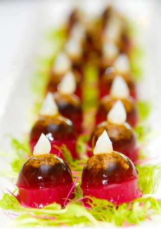 strawberry jelly: Strawberry jelly, dessert for cocktail party