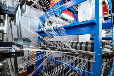Textile industry - Weaving and warping photo