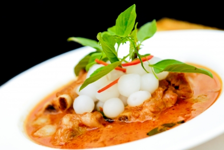 Thai food chicken panang curry