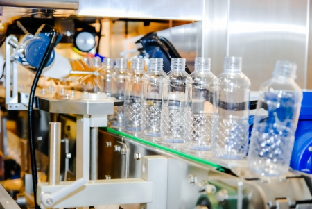 natural process: Bottling water on the plant