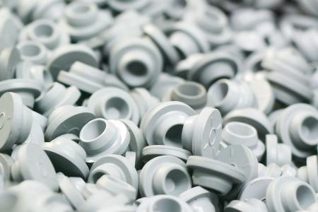 Nahaufnahme von Kunststoffkappen Lizenzfreie Bilder