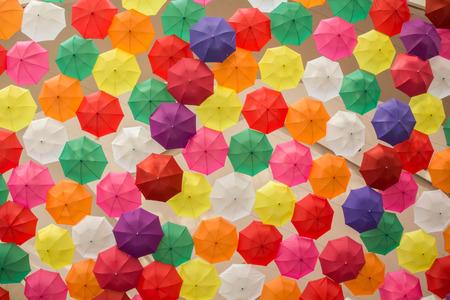 A Lots of Colorful Umbrellas Standard-Bild