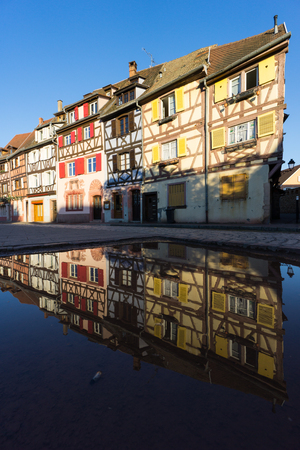 Reflecting ancient houses of Colmar