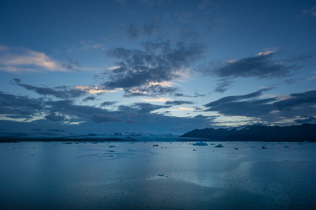Iceland - Glacier lagoon joekulsarlon the night