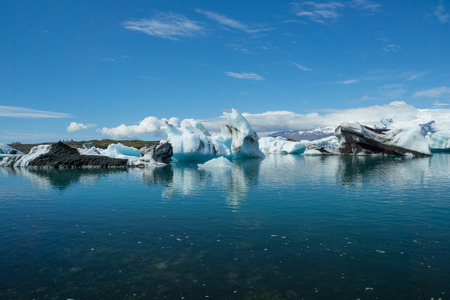 Iceland - Clear water of glacier lagoon