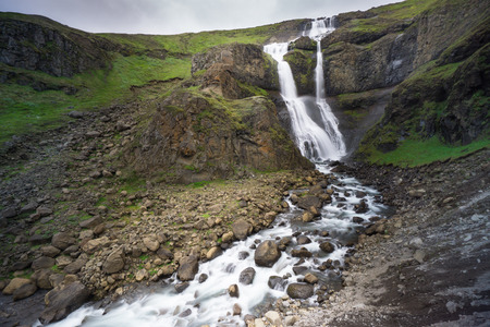 Iceland - Impressive waterfalls with several terraces