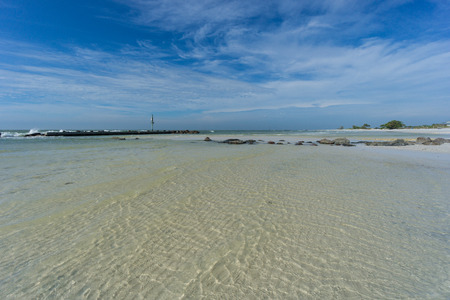 USA, Florida, Crystal clear turquoise water at honeymoon island beach