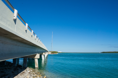 USA, Florida, Highway bridge over the ocean of florida keys - Overseas Highway