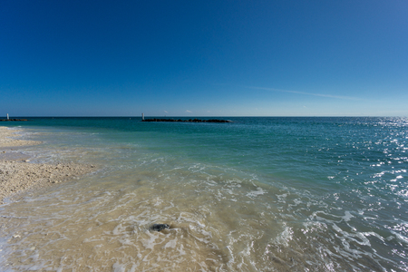 USA, Florida, Perfect beach of fort zachary taylor park on key west