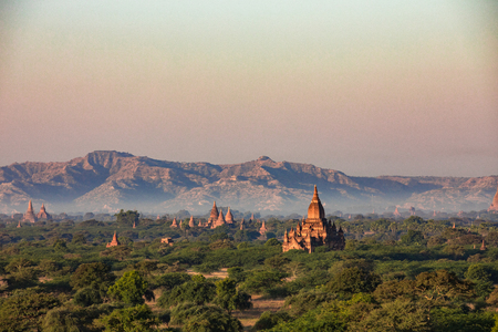 A temple surrounded by nature to pray to buddha from sunrise to sunset