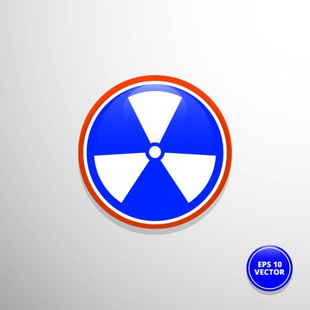 radioactive warning symbol: Vector radiation symbol