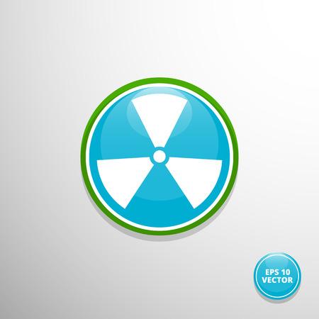 irradiation: Vector radiation symbol