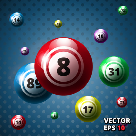 Lottery balls background vector illustration