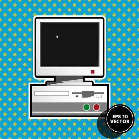 computer art: pop art computer vector illustration